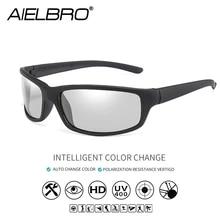 AIELBRO Photochromic Cycling Sunglasses Black gafas ciclismo Men's Glasses Sports Bike Glasses 18g Lightweight Glasses Cycling