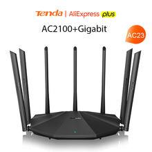 Tenda ac23/ac11 gigabit banda dupla 2.4g 5.0ghz 12ac wifi roteador sem fio wifi repetidor 5 * 6dbi antenas de ganho alto cobertura mais ampla