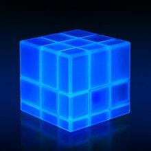 QiYi 3X3X3 зеркальные блоки, светящийся волшебный кубик скорости, головоломка, профессиональная обучающая и развивающая классика, игрушки, куб