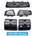 TOP Qualität Volle Chrome Klimaanlage AC Vent Grille Outlet Abdeckung Für BMW 5 Series F10 520 521 523 525 528 530