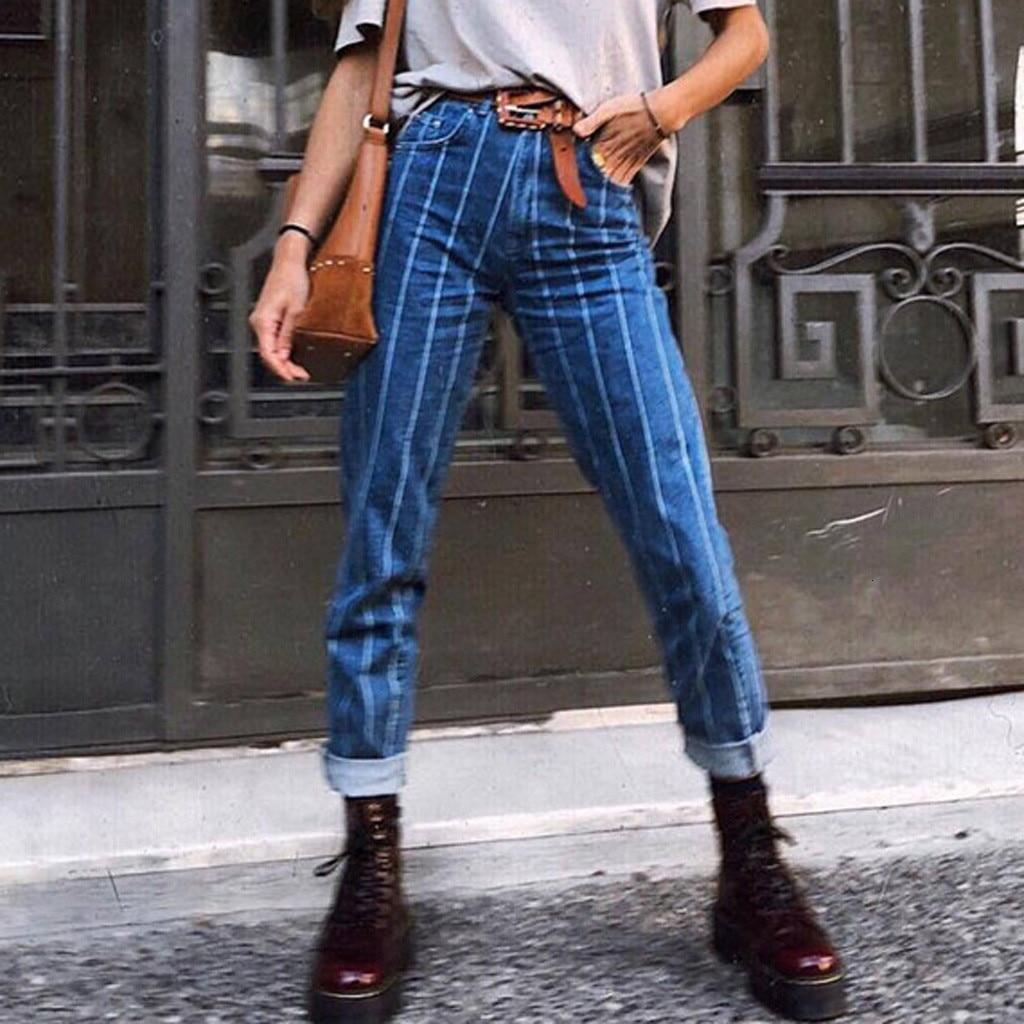 New Fashion Pocket Button Rits Elastic Slim Fit Women Casual Jeans Broek Middle Tail Potlead Broek Pants Muji Z0820