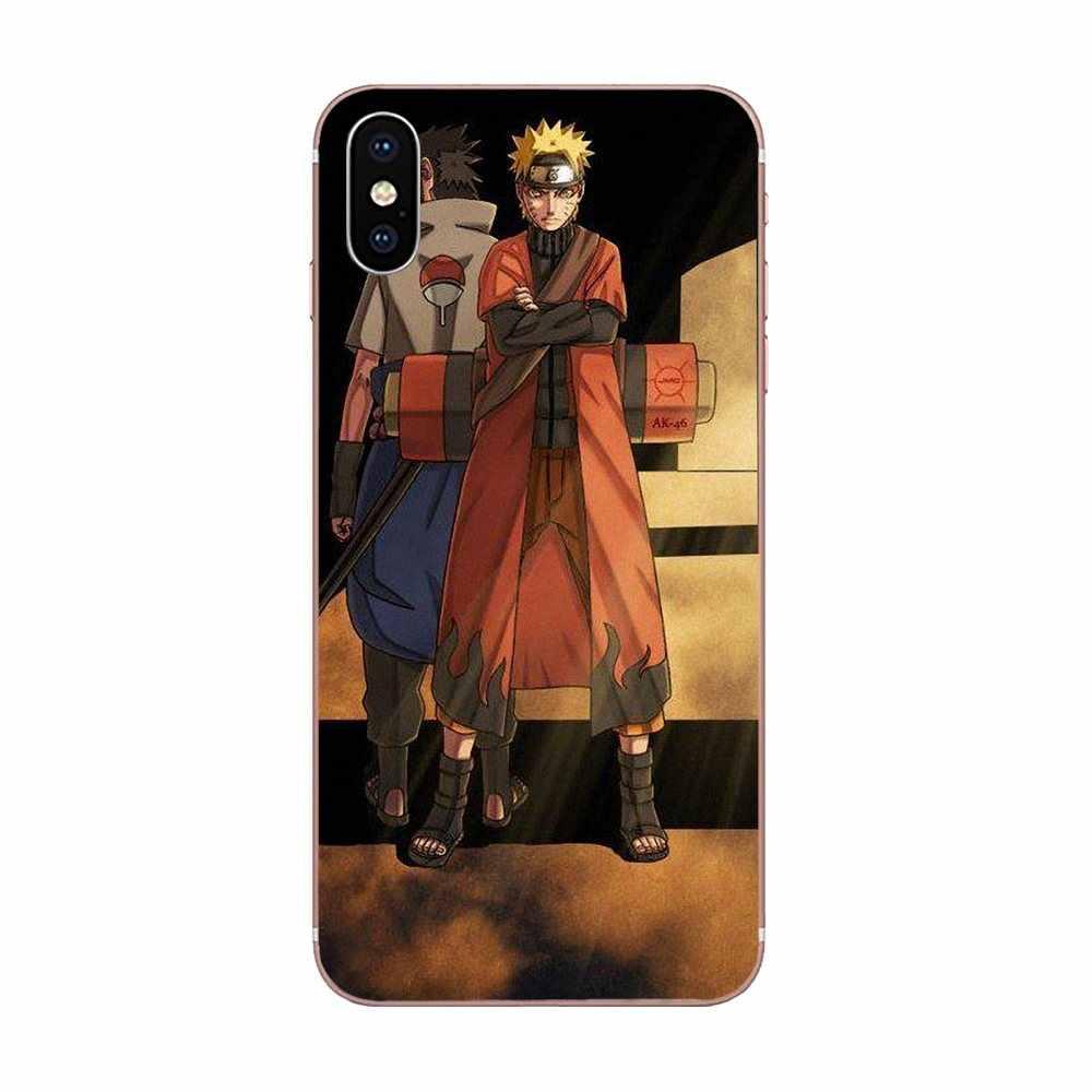 Naruto Shippuden Naruto ve Sasuke Huawei Mate 9 için 10 20 P P8 P9 P10 P20 P30 P40 Lite Pro akıllı 2017 TPU koruyucu kılıflar