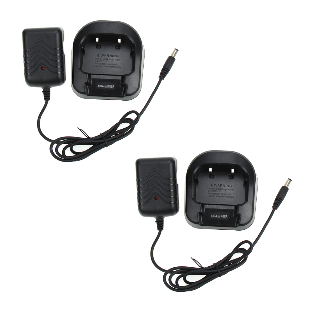 2X Baofeng Desktop Charger And Adapter For Baofeng UV-82 UV-82L UV-8D UV-82HP UV-82hx Walkie Talkie