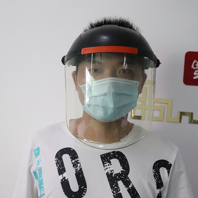 Anti-Saliva Windproof Dust proof Face Mask Transparent PVC Safety Face Shield Screen Spare Visors Respiratory tract Protection 4