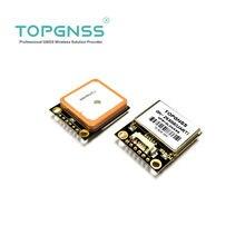 Uart 3.3-5 v ttl gps modue gps glonass modo duplo m8n gnss gps módulo antena receptor, built-in flash, nmea0183 fw3.01 topgnss