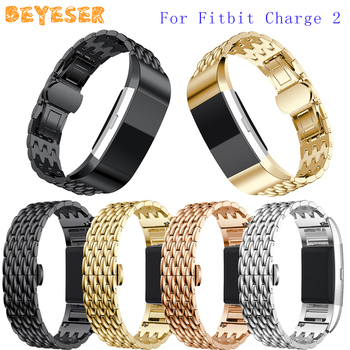 New Metal Watch Wristband For Fitbit Charge 2 Smart Watch Band Adjustable Replacement For Fitbit Charge 2 Watch Band Bracelet