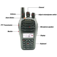 "vhf uhf 2pcs Baofeng UV-B5 קל נייד ווקי טוקי רדיו UHF VHF Dual Band Ham Radio רדיו Comunicador Talkie Walkie 50 ק""מ (2)"