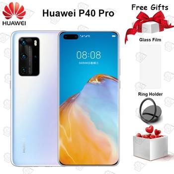 Перейти на Алиэкспресс и купить Оригинальный Huawei P40 Pro 5G мобильный телефон 6,58 дюймов 90 Гц экран 8 Гб 128 ГБ Kirin 990 Android 10 50MP Quad Camera 40W смартфон