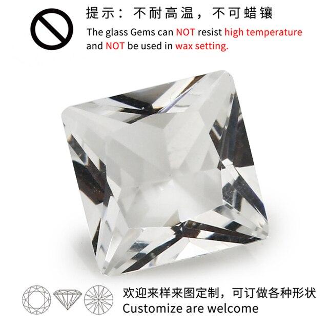 Стеклянный камень для ювелирных изделий размер 2x2 ~ 12x12 мм