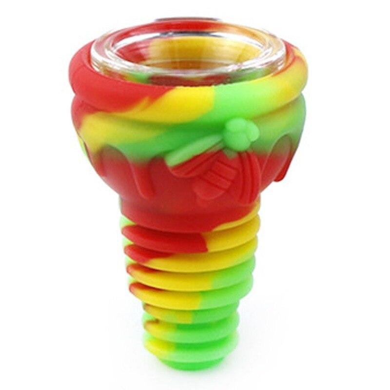 Silicone Water Pipe Bowl Hookah Bowls Shisha Bowls High Temperature Resistance For Smoking Water Bong Smoke Pipe Bowls 4