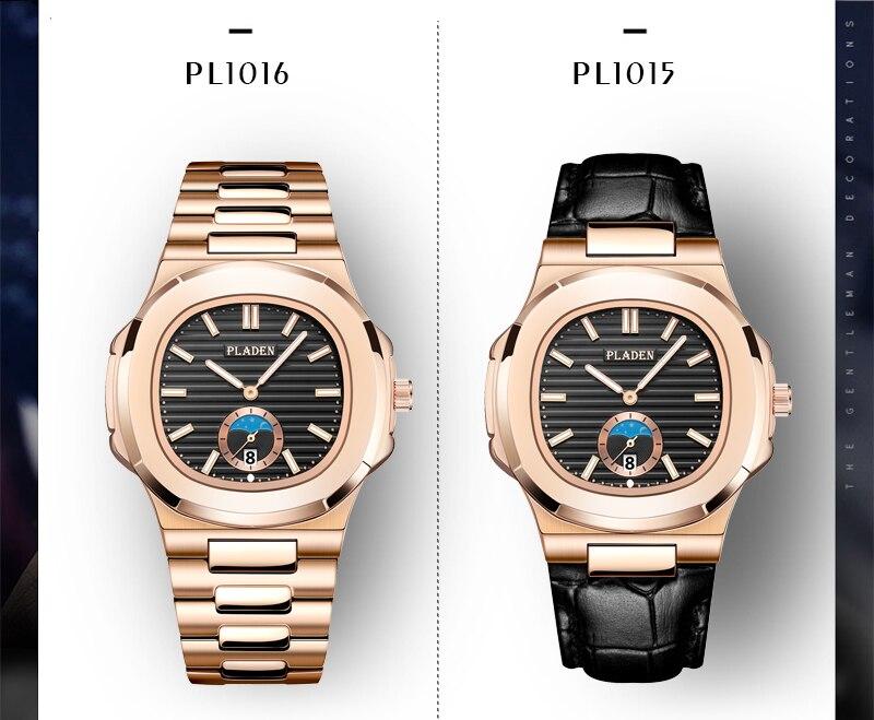 inoxidável patek masculino relógios topo marca luxo