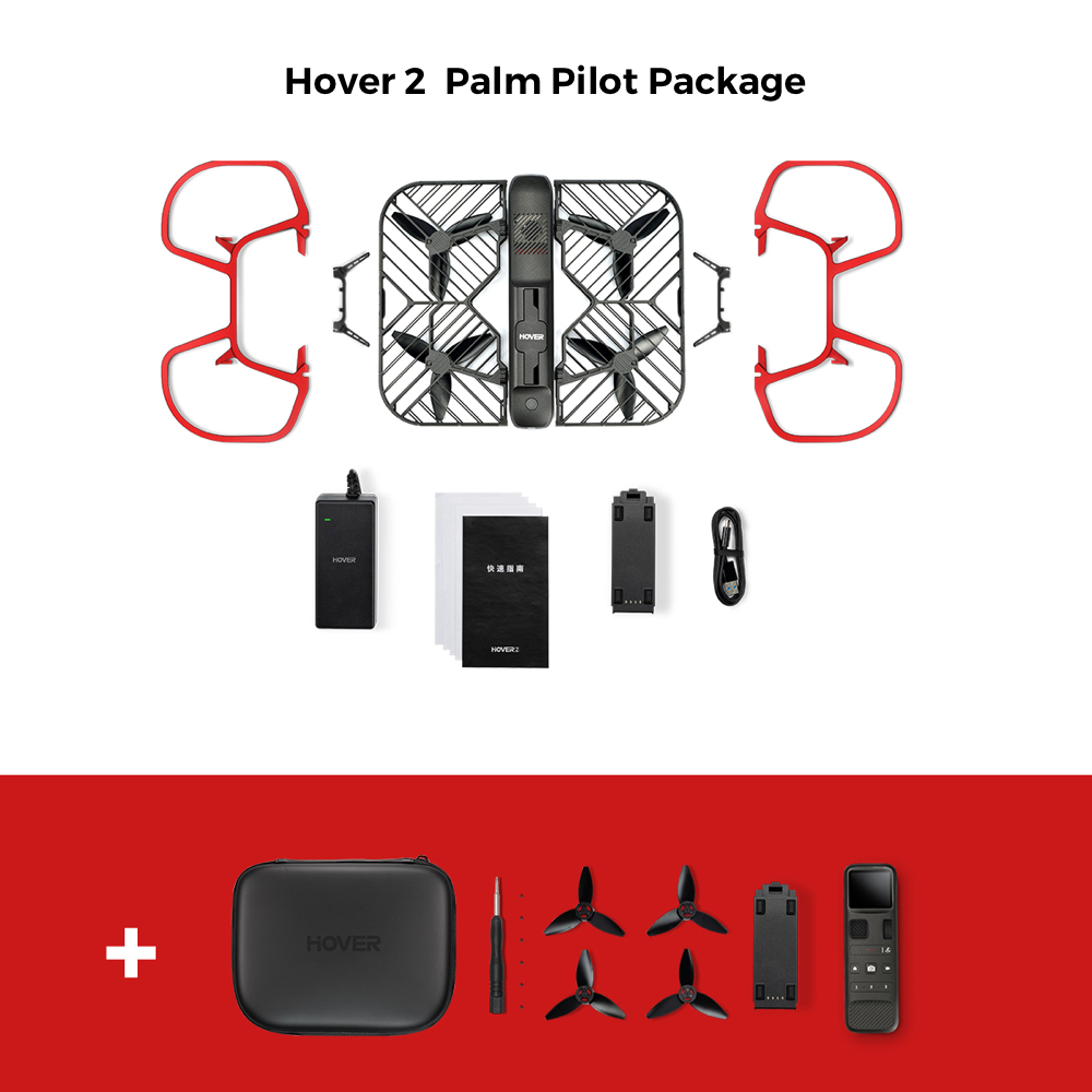 Hover  Camera hover 2 Passport Self-Flying Drone 4k Video 1080P Auto-Follow 13MP  360-degree obstacle avoidance pk dji
