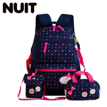 Children Star Printing Backpacks Bagpack Nylon Backpack For Teenagers Girls Lightweight School Bags Child Schoolbags
