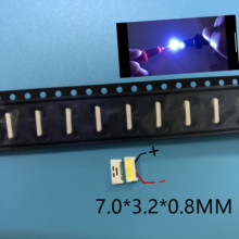 1000pcs LUMENS LED תאורה אחורית קצה LED סדרת 0.7W 3V 7032 מגניב לבן עבור SAMSUNG LED LCD תאורה אחורית טלוויזיה אפליקציות A150GKCBBUP5A