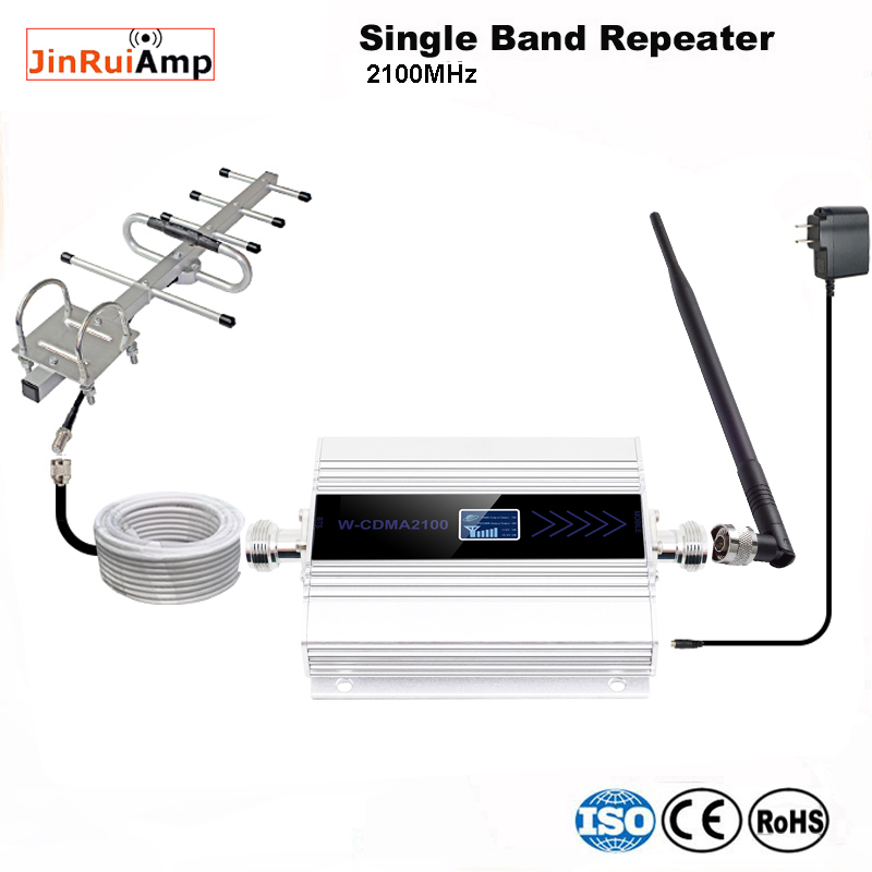 3g Repeater 2100 Cell Phone Signal Repeater 2100MHz Mobile Phone Signal Booster Amplifier,LCD Mini 65db 3G LTE WCDMA UMTS