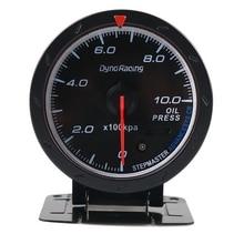 Dyno Racing Car 12V Universal Car Modified Racing Colours Meter Accessory High Sensitivity Car Instrument(Oil Pressure Gauge)