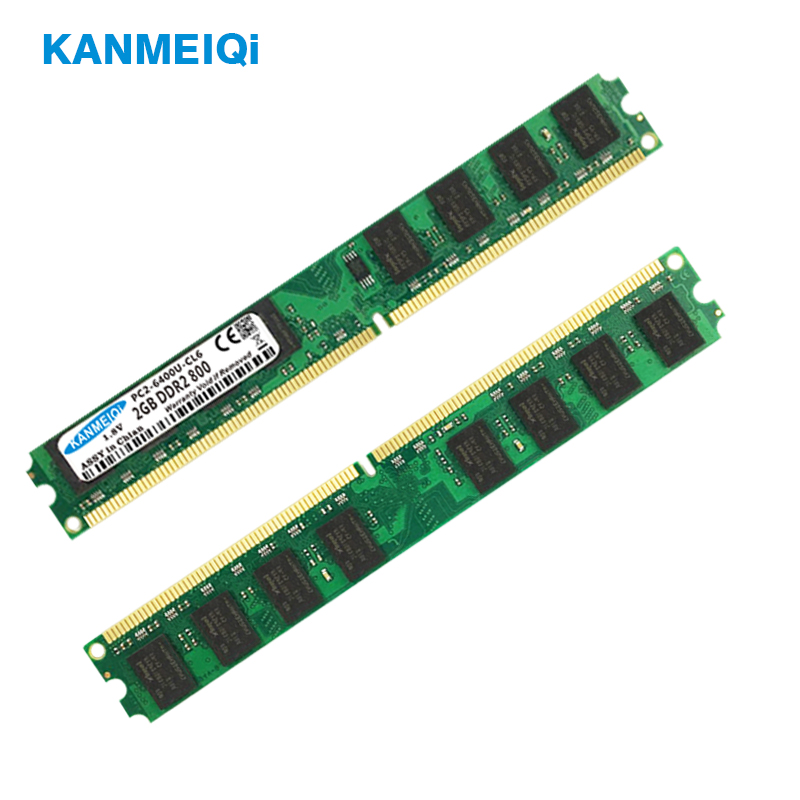 KANMEIQi 2GB 800MHz ddr2 ram Desktop Dimm 4gb (2pcs X 2 GB) memória 533/667MHz 240pin 1.8V Nova PC2-6400-CL6