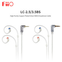 FiiO LC-3.5BS/2.5BS High-Purity Copper-Plated Silver Standard MMCX Earphone Cable 3.5mm 2.5mm for uBTR/BTR1/BTR3/FH9/F9 Pro(China)