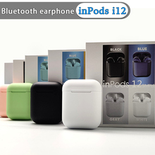 inPods i12 TWS Wireless Bluetooth Earphones Sport Earbuds With Accessories Luxury Cases For i7s i100 i200