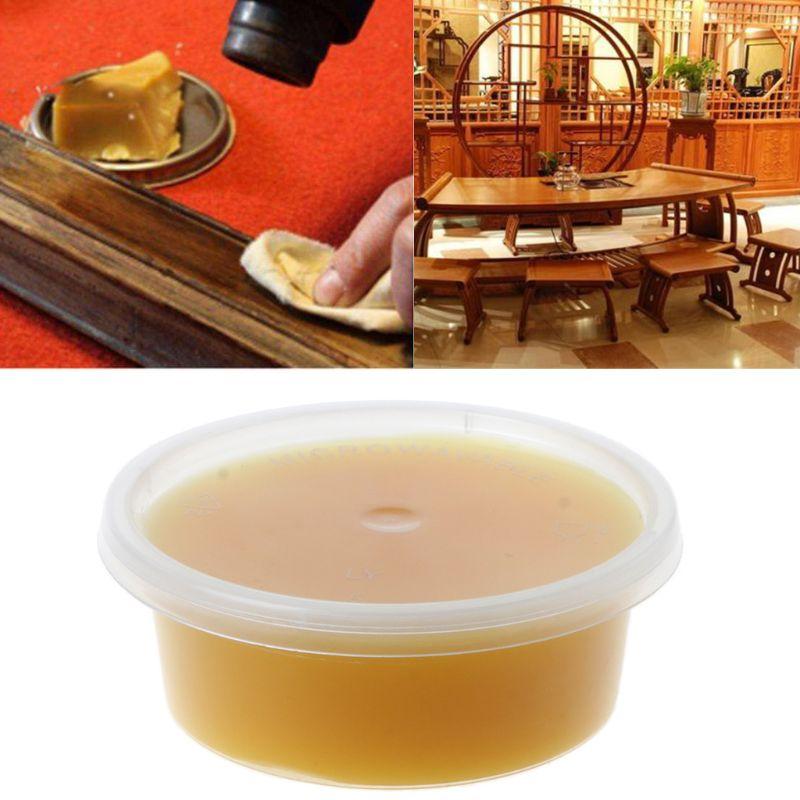 50g Natural Pure Beeswax Cosmetic Grade Filtered Organic Bee Wax Wood Polishing Bamboo Furniture Floor Surface Finishing Wax