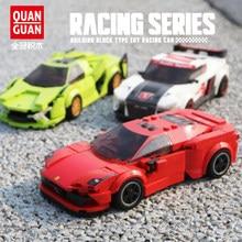 2021 nova velocidade campeões veículos da cidade super racers sports racing modelo blocos de construção brinquedos crianças transporte carro rali presente