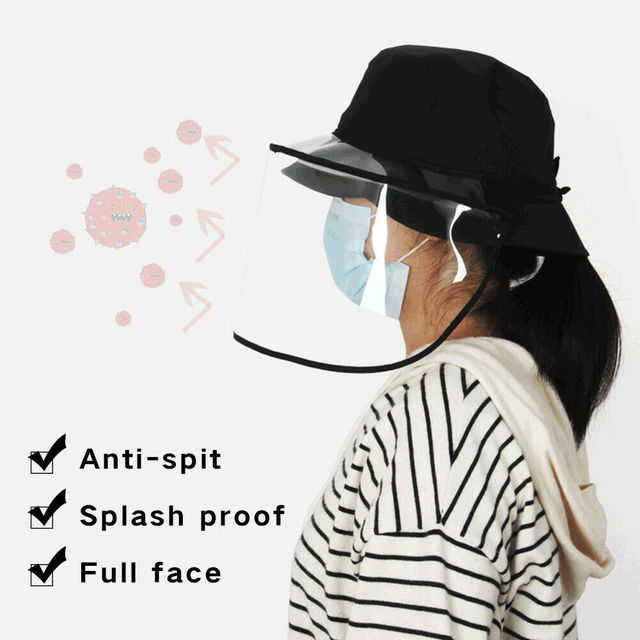Epidemic Protection Hat Anti Saliva Cap Face Shield Isolation Face Cover Hats 1