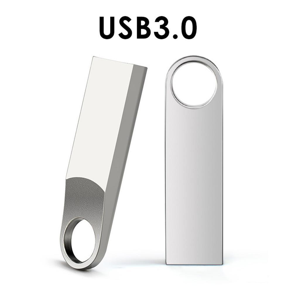 Mini Metal USB 3.0 Memory Stick High Speed U Disk Flash Drive Memory Stick Metal Sliver Color 4GB 8GB 16GB 32GB 64GB 128GB