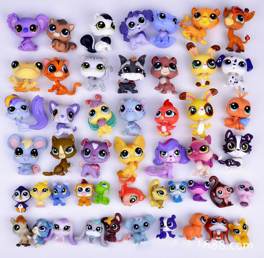 Cute LPS Animal Collection Toys Lps Minis Pet Shop Accessories Toys Dog  Cat Collie Dachshund Animal Kids Christmas Gift Toys