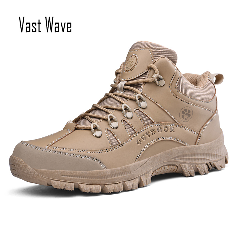 Vastwave Quality Winter Warm Snow Boots For Men Male Shoes Adult Outdoor Hiking Boots With Fur Men Ankle Boots Rubber Anti-slip