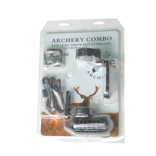 Archery 30-55lbs Compound Bow Kit Carbon Arrows  Adjustable 310FPS Adult Outdoor Hunting Shooting Right Hand with Accesssories 6