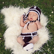 Knitted Baby Hat Crochet Born-Shoes Baby-Photography-Props Newborn Infant Shower Gift