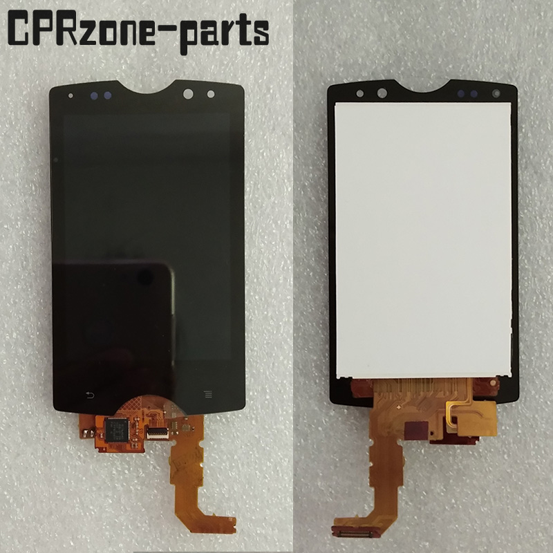 """3.0"""" Black / White For Sony Ericsson Xperia mini pro SK17i SK17 LCD display with touch screen digitizer assembly free shipping"""