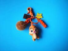 Fashion Cute 3D Anime Keychains Squirrel Key Chain Gift For Women Girls Bag Pendant Figure Charms Key Chains Jewelry Key Ring drop shipping pet dog key chain pendants key buckle tag key jewelry women keychains welsh corgi chihuahua bag charms keyring
