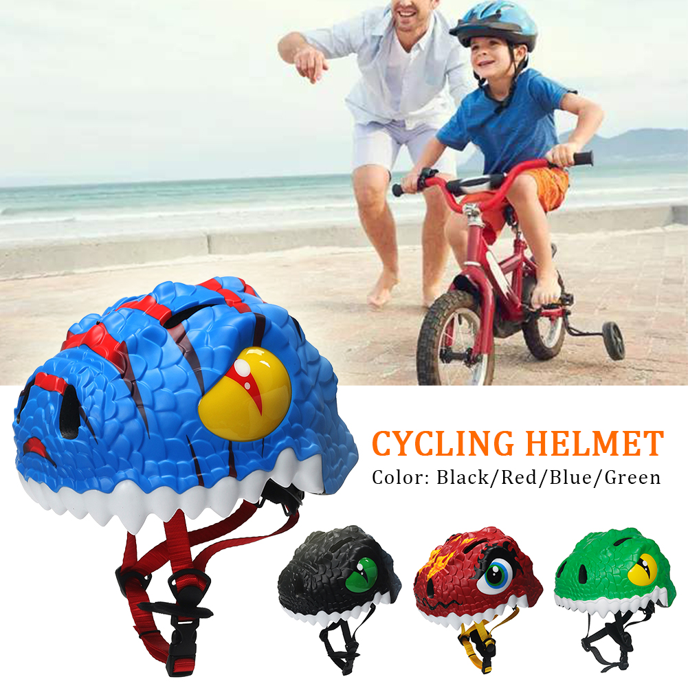 Kids Cartoon Dinosaur Safety Cycling Helmet 3D Animals Helmet Removable Scooter Skating Skiing Bicycle Helmet Protective Gear