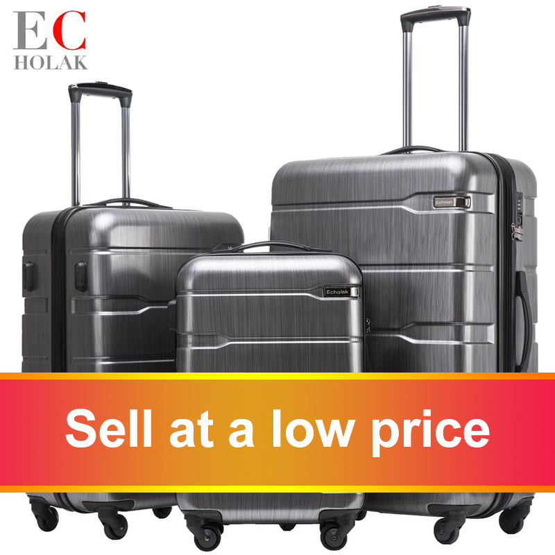3 Piece Set Suitcases 20in 24in 28in Luggage Suitcase Rolling Bags on Wheels Wheeled Suitcase Trolley(China)