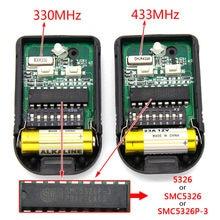 Malásia singapura smc5326 5326 330mhz 433mhz 8 dip interruptor automático garagem duplicado controle remoto