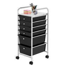 6 Drawers Beauty Salon Rolling Cart Trolley Furniture With 4 PCS Universal Wheels For Home Office And School(China)