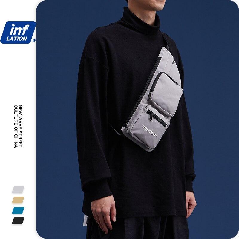 INFLATION Fashion Boys Girls Shoulder Bags Streetwear Messenger Bags For Men Male Female Big Capacity Crossbody Bags 264AI2019