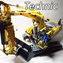 20007 Technic MOTORIZED EXCAVATOR Building Blocks Electric Motors Power Functions Bricks Toys Gift Technic 8043(China)