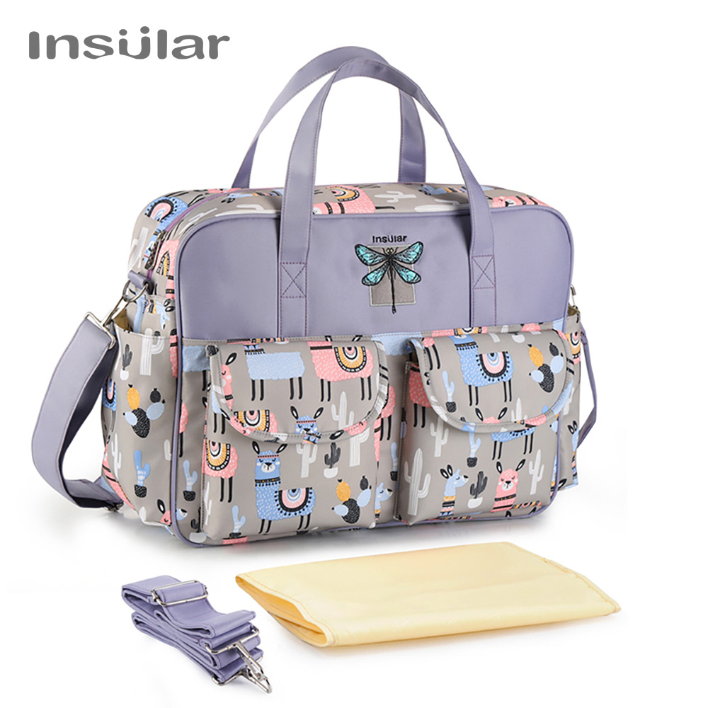 Zipper Diaper Bags Messenger Bag Large Capacity Waterpoof  Mummy Maternity Daddy Travel Nursing Shoulder Bag for Baby Care