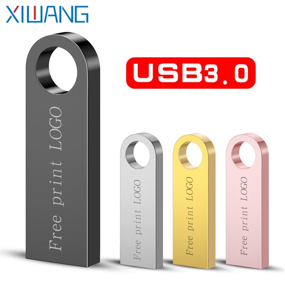 Metal Pen Drive 3.0 PenDrive 32GB 16GB 8GB 4GB High Speed Usb Flash Drive 128GB Cle Usb Stick 64gb Flash Memory Free Print LOGO