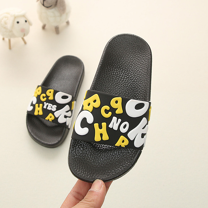 Summer Kids Slippers For Boys Beach Sandal Cartoon Toddler Girl Flip Flops Baby Indoor Non-slip Children Home Bathroom Slippers