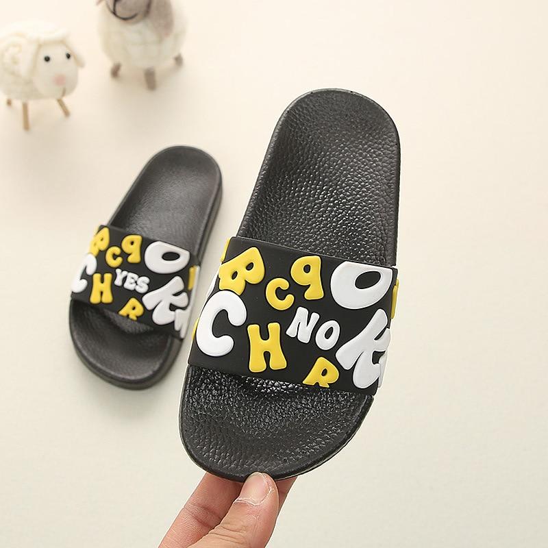Summer Kids Slippers For Boys Beach Sandal Cartoon Toddler Girl Flip Flops Baby Indoor Non-slip Children Home Bathroom Slippers