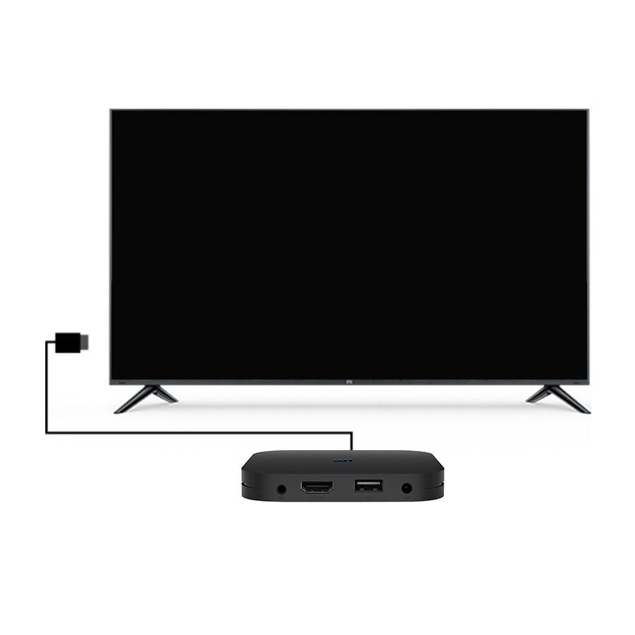 Original Global Xiao mi boîte S 4K HDR Android TV 8.1 mi boîtes 2G 8G WIFI Google Cast Netflix IPTV décodeur mi Box 4 lecteur multimédia - 4