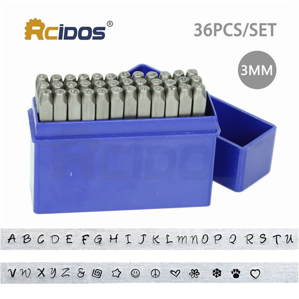 PD-3mm Series Upper/Lower Case Letter Metal Stamp Set,DIY Bracelet/jewelry Symbols Steel Stamp Letters Kit,33pcs/box+free 3pcs
