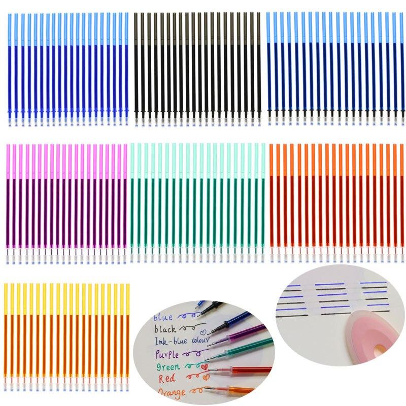 20pcs/Pack Magic Erasable Gel Pen 0.5mm Blue/Black/Purple/Ink Blue/Green/Orange/Red/Refill School Office Writing Stationery