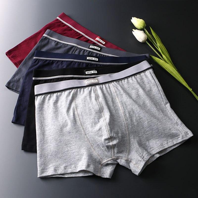 Mens Underwear Cotton Boxer Men Underpants Comfortable Breathable Soft Panties Male Solid Boxershort Sexy Man Boxer Underwear