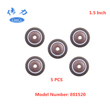 5 Pcs/Lot Casters Spot 1.5-inch Tpe Single Wheel Diameter 38x17 Soft Rubber With Bearing Mute Household Caster Piece