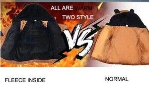 Image 2 - CROAL CHERIE chaquetas para niños, abrigo de piel para bebés niñas, abrigos de invierno, ropa de lana para niñas, Parkas de invierno con orejas de oso