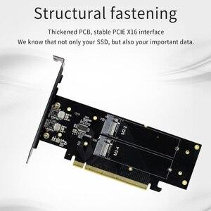Image 3 - JEYI iهايبر m.2 X16 إلى 4X PCIE3.0 GEN3 X16 إلى 4 * بطاقة غارة PCI E VROC بطاقة غارة فرط M.2X16 M2X16 4X X4 رائد